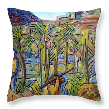 St. Lucas Painting Cabo Throw Pillow