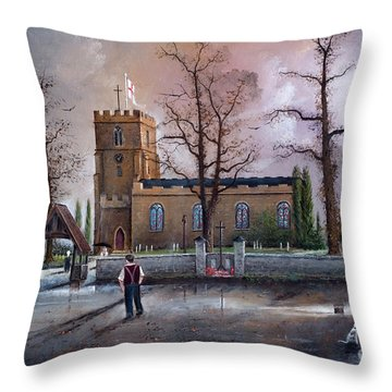St Marys Church - Kingswinford Throw Pillow