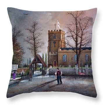 St Marys Church - Kingswinford Throw Pillow