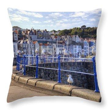 St Peter Port - Guernsey Throw Pillow by Joana Kruse