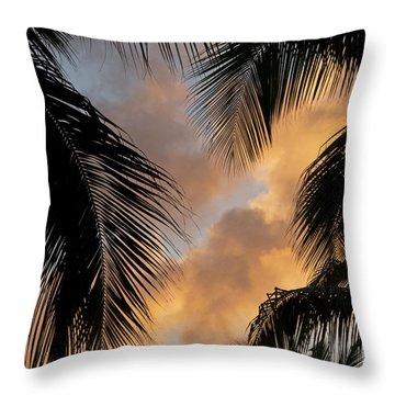 St. Thomas Sunset Throw Pillow
