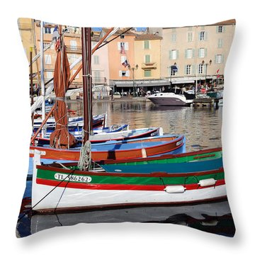Throw Pillow featuring the photograph St. Tropez - France by Haleh Mahbod