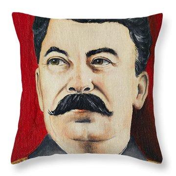 Stalin Throw Pillow by Michal Boubin