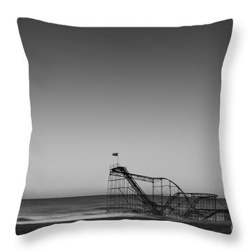 Star Jet Roller Coaster Hdr Throw Pillow by Michael Ver Sprill