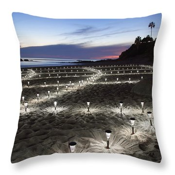 Stars On The Sand Throw Pillow