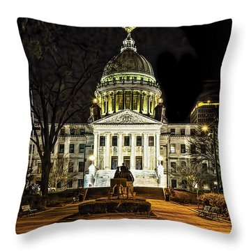 State Capitol Throw Pillow