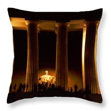 Statue Of Abraham Lincoln Throw Pillow by Panoramic Images