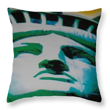 Statue Of Liberty  Throw Pillow by Rob Hans