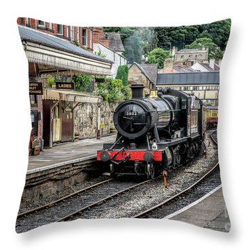 Throw Pillow featuring the photograph Steam Train by Adrian Evans