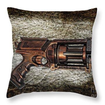 Steampunk - Gun - The Multiblaster Throw Pillow by Paul Ward