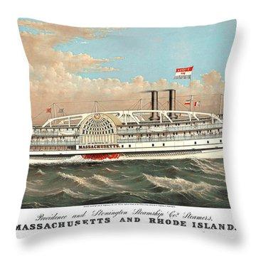 Steamship Massachusetts Throw Pillow