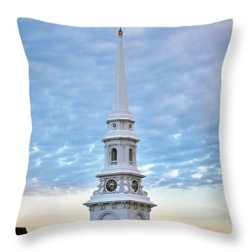 Steeple And Rooftops Throw Pillow by Eric Gendron