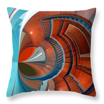 Throw Pillow featuring the digital art Step by Nico Bielow