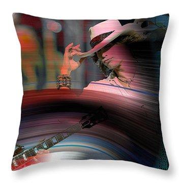 Steven Tyler  Throw Pillow by Marvin Blaine