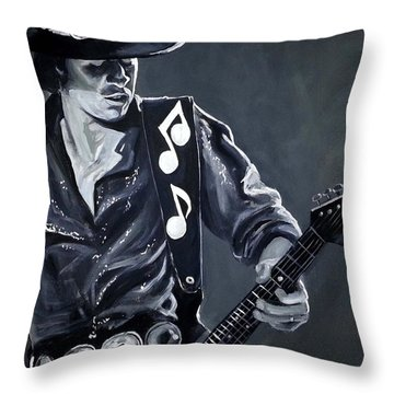 Stevie Ray Vaughan Throw Pillow