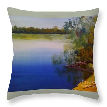 Still Waters - Original Sold Throw Pillow