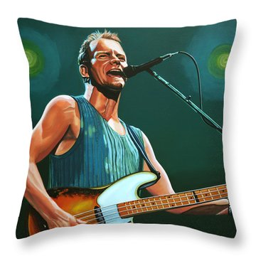 Sting Throw Pillow by Paul Meijering
