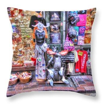 Stokholm Swiss Street Throw Pillow by Yury Bashkin