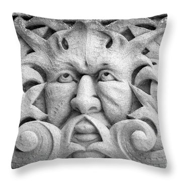 Stone Face II Throw Pillow