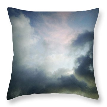 Storm Clouds Throw Pillow by Les Cunliffe