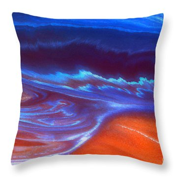 Throw Pillow featuring the mixed media Storm by Irina Hays
