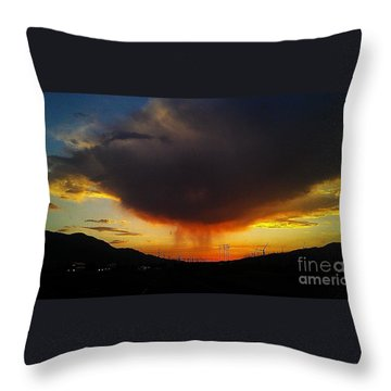 Throw Pillow featuring the photograph Storms Coming by Chris Tarpening