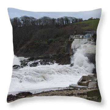 Stormy Falmouth Throw Pillow