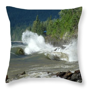 Stormy Lake Throw Pillow