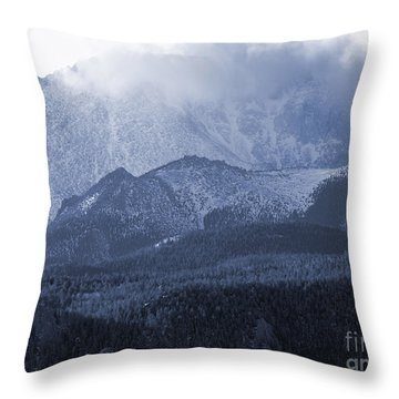 Stormy Peak Throw Pillow