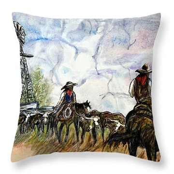 Strange Sky Throw Pillow