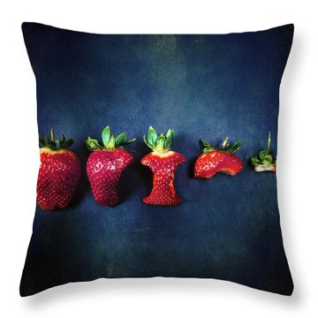 Strawberries Throw Pillow by Joana Kruse