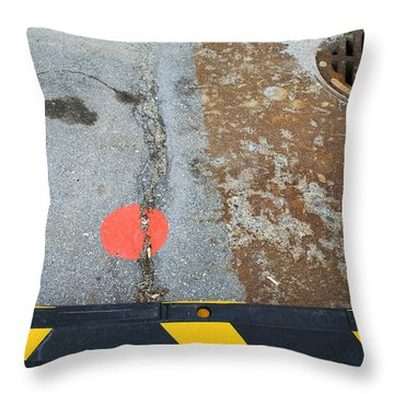 Street Markings  Throw Pillow
