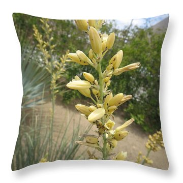 Throw Pillow featuring the photograph 1 String Flowers    Photographed Las Vegas May 2014 by Navin Joshi