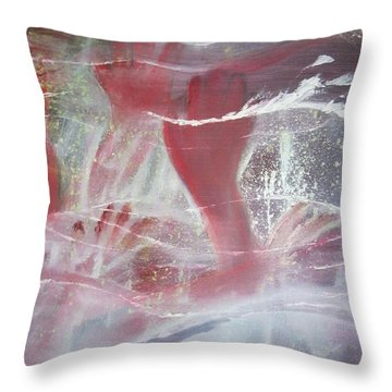 String Theory - Praise Throw Pillow by Carrie Maurer