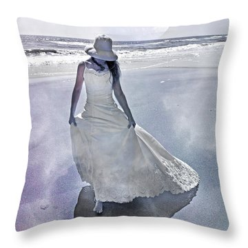Strolling In Paradise Throw Pillow by Betsy Knapp