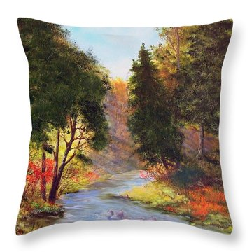 Sturgeon River  Throw Pillow