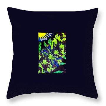 Throw Pillow featuring the painting Summer Bloom by Jonathon Hansen