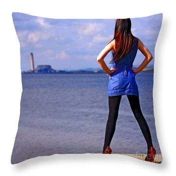 Summer Dress Throw Pillow