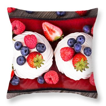 Summer Fruit Platter Throw Pillow
