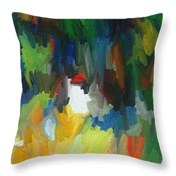 Summer Garden Throw Pillow by Thomas Bryant