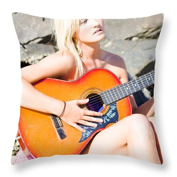 Summer Serenade  Throw Pillow