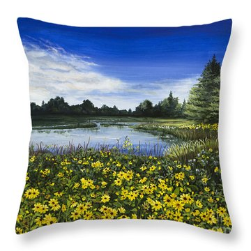 Summer Susans Throw Pillow