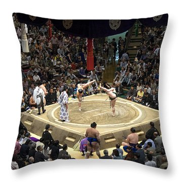 Sumo Summer Tournament 2014 Tokyo Throw Pillow