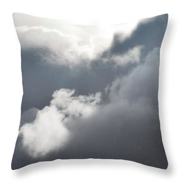 Throw Pillow featuring the photograph Sun Amongst The Clouds by Alohi Fujimoto