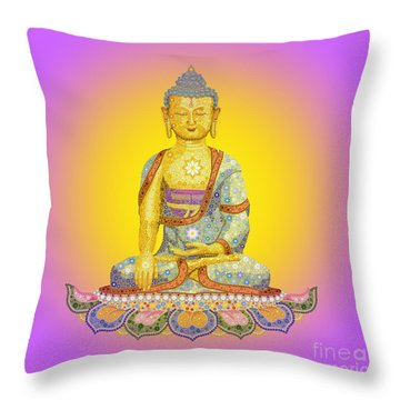 Sun Buddha Throw Pillow