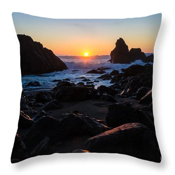 Sun Kissed Throw Pillow by CML Brown