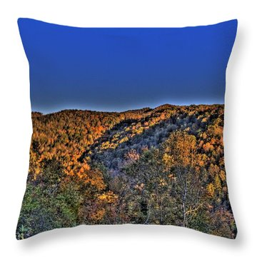 Throw Pillow featuring the photograph Sun On The Hills by Jonny D