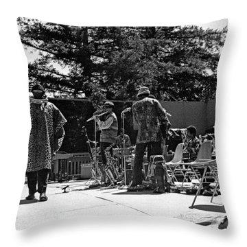 Sun Ra Arkestra Uc Davis Quad 2 Throw Pillow by Lee  Santa