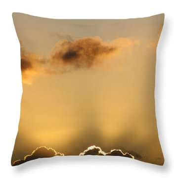 Sun Rays And Dark Clouds Throw Pillow