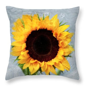 Sunflower Throw Pillow by Bill Howard